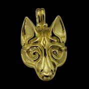 FENRIR, NORSE WOLF PENDANT, 14K GOLD - GOLDEN JEWELLERY