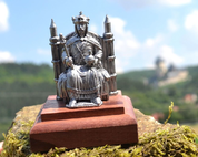 KING CHARLES IV., HISTORICAL TIN STATUE - PEWTER FIGURES
