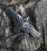 FLYING CROW - RAVEN PENDANT, STERLING SILVER - MYSTICA SILVER COLLECTION - PENDANTS