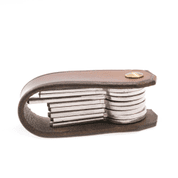 BALFOUR, LUXURY LEATHER KEYCHAIN BROWN - WALLETS