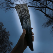 HUGINN AND MUNINN, VENDEL DRINKING HORN - DRINKING HORNS