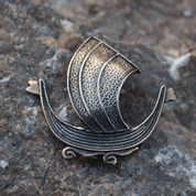 DRAKKAR, VIKING SHIP, AMULET, BRONZE - PENDANTS, NECKLACES
