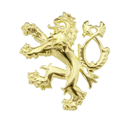 GOLDEN DOUBLE-TAILED LION, SYMBOL OF BOHEMIA, 14K GOLD - GOLDEN JEWELLERY