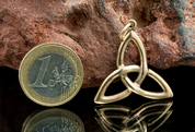 TRIQUETRA, CELTIC PENDANT, BRONZE - PENDANTS, NECKLACES