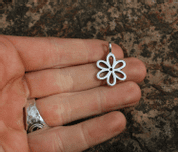 FLOWER, SILVER PENDANT - PENDANTS - HISTORICAL JEWELRY