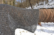 CHAINMAIL SHIRT - HAUBERK, RIVETED, 8 MM, SHORT SLEEVES, CHEST SIZE 150 CM - CHAIN MAIL ARMOUR