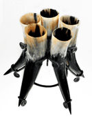 STAND FOR 5 HORNS - DRINKING HORNS
