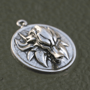 SLAVIC WOLF PENDANT, STERLING SILVER - PENDANTS - HISTORICAL JEWELRY