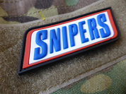 SNIPERS, 3D VELCRO PATCH - MILITARY PATCHES