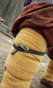 MEDIEVAL LEATHER GARTERS - GREEN - BELTS