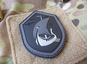 DRAKKAR DRAGON SHIP AT NIGHT, 3D VELCRO PATCH - MILITARY PATCHES