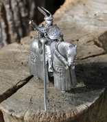 TOURNAMENT KNIGHT ON A HORSE - PEWTER FIGURES