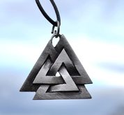 VALKNUT, VIKING PENDANT, TIN ALLOY - VIKING PENDANTS