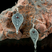 ROMA, ANCIENT ROMAN EARRINGS, SILVER - EARRINGS - HISTORICAL JEWELRY