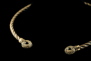CELTIC CHIEFTAIN TORC, BRONZE TORQUES - TORCS, NECKLACES