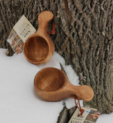 KUKSA, VISAKUKSA, BIRCH BOWL FROM LAPLAND - DISHES, SPOONS, COOPERAGE
