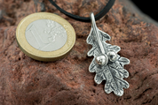 OAK LEAF, STERLING SILVER CHARM - MYSTICA SILVER COLLECTION - PENDANTS