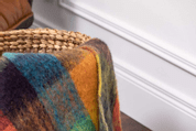 JEWEL CHECK MOHAIR THROW, MOHAIR, WOOL - WOOLEN BLANKETS AND SCARVES, IRELAND