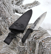 CRUACHAN, FORGED CELTIC KNIFE WITH SHEATH - KNIVES