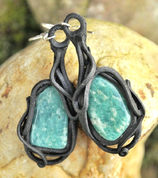 AMAZONITE EARRINGS - PIERRES ET FANTASY