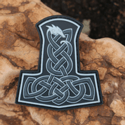 DRAGON THORS HAMMER RUBBER PATCH - MILITARY PATCHES