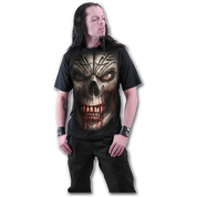 SKULL SHOCK - T-SHIRT BLACK - T-SHIRTS, SLEEVELESS