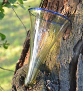 VIKING CONE BEAKER, GLASS, REPLICA FROM BIRKA - HISTORICAL GLASS