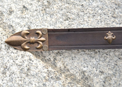 LEATHER SCABBARD FOR ONE HANDED SWORDS, FLEUR DE LIS - SWORD ACCESSORIES, SCABBARDS
