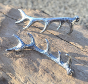 DEER ANTLER, PENDANT, STERLING SILVER - MYSTICA SILVER COLLECTION - PENDANTS