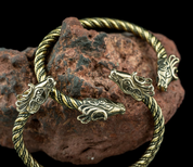 FIANNA, CELTIC DEER, BRASS BRACELET - BRONZE HISTORICAL JEWELS