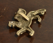SCYTHIAN GRIFFIN, BRONZE PENDANT BY WULFLUND - BRONZE HISTORICAL JEWELS