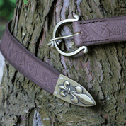 FLEUR BROWN LEATHER BELT - BELTS