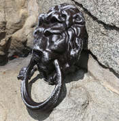 DOOR KNOCKER LION, ALLOY - FORGED IRON HOME ACCESSORIES