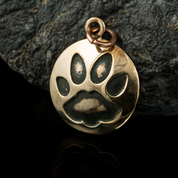 CAT TRACK, PENDANT, BRONZE - BRONZE HISTORICAL JEWELS