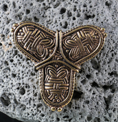 VIKING TREFOIL BRONZE BROOCH - BRONZE HISTORICAL JEWELS