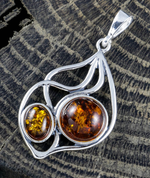 JOLA, AMBER PENDANT, STERLING SILVER - AMBER JEWELRY