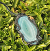 AGATE PENDANT GREEN - FANTASY JEWELS