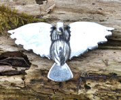 ATHENE NOCTUA - OWL, SILVER PENDANT - LARGE - MYSTICA SILVER COLLECTION - PENDANTS