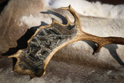 CERNUNNOS, CELTIC GOD, ENGRAVED ANTLER - PRODUCTS FROM ANTLER, WOOD