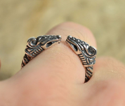DREKI, STERLING SILVER RING - RINGS - HISTORICAL JEWELRY