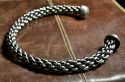 HAND FORGED AND BRAIDED STEEL TORC - FORGED JEWELRY, TORCS, BRACELETS