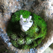 DEER, CUBIST RING, STERLING SILVER - RINGS - HISTORICAL JEWELRY