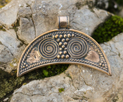 LUNULA, BRONZE PENDANT - BRONZE HISTORICAL JEWELS
