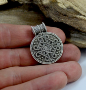 BIRKA, VIKING PENDANT, REPLICA, STERLING SILVER - FILIGREE AND GRANULATED REPLICA JEWELS