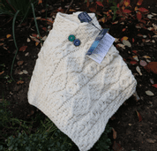 ARAN PONCHO FOR KIDS, IRISH WOOL - IRISCHE WOLLPULLOVER