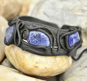 SODALITE BRACELET - THREE STONES - FANTASY JEWELS