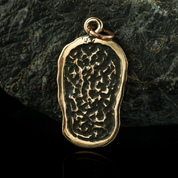 BEAR PRINT, BRONZE PENDANT - BRONZE HISTORICAL JEWELS
