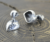 CELTIC DUCK, FRANCE, SILVER PENDANT - PENDANTS - HISTORICAL JEWELRY