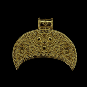LUNULA, GREAT MORAVIAN EMPIRE, 9TH CENTURY, REPLICA, 14K GOLD - GOLDEN JEWELLERY