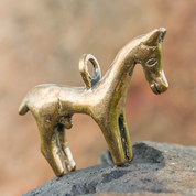 CELTIC HORSE PENDANT FROM GALLIA, BRONZE - BRONZE HISTORICAL JEWELS